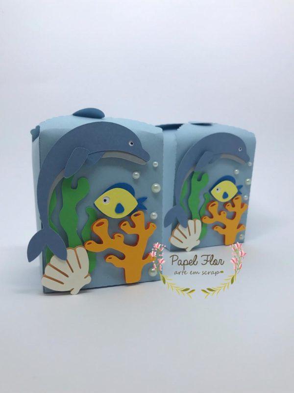 Caixa golfinho _ papel Flor