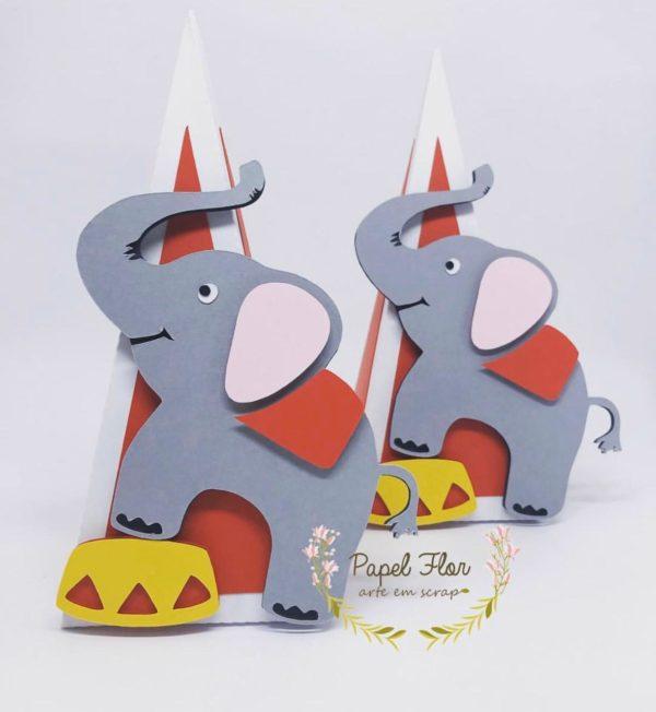 Cone Elefante circo _ Papel Flor