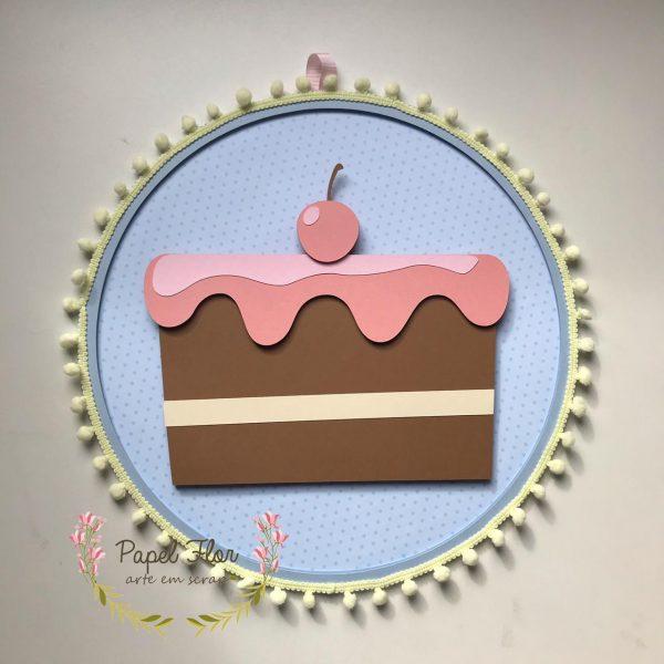 Bastidor torta de chocolate_ Papel Flor