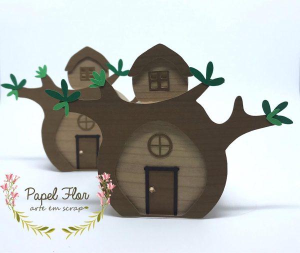 Caixa casa urso_Papel Flor