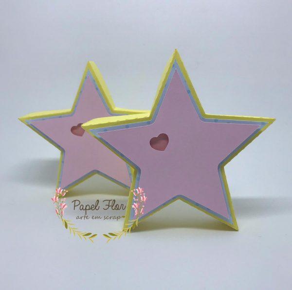 Caixa estrela 3D_Papel Flor