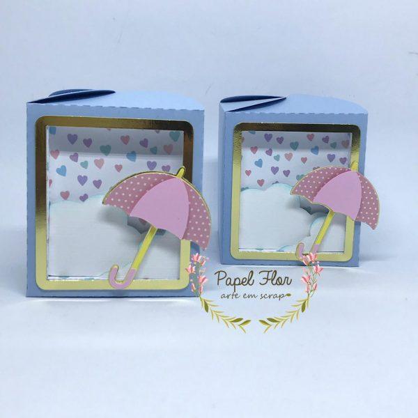 Caixa quadrada chuva de amor_Papel Flor
