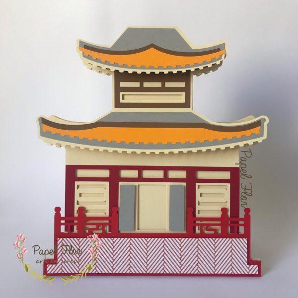 Totem construção japonesa_Papel Flor