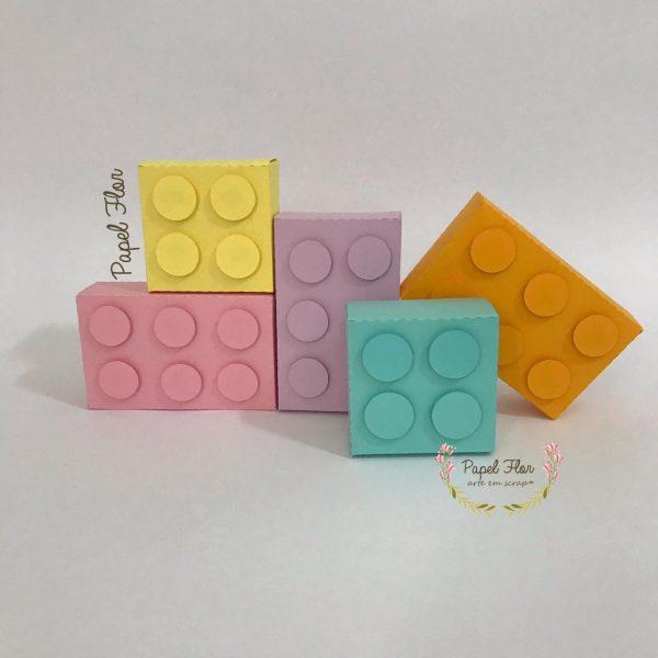 Caixa blocos de montar _ Papelk Flor