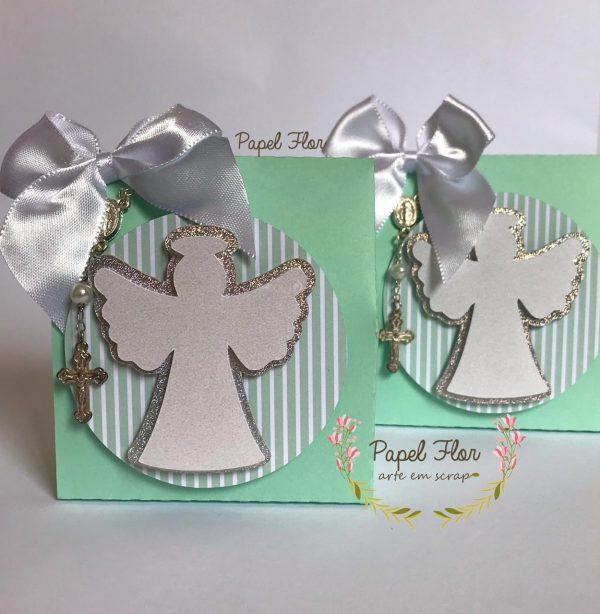 Caixa envelope Batizado Anjo_ Papel Flor