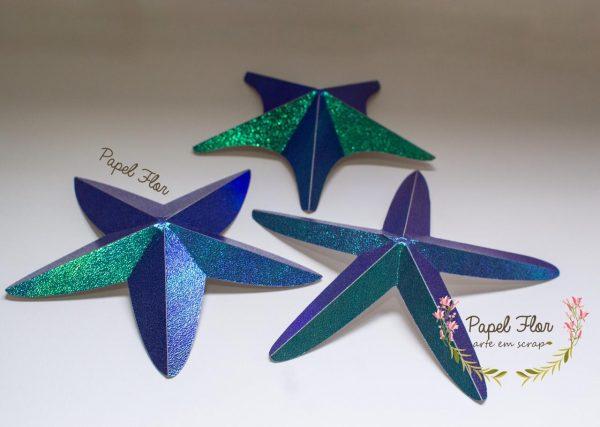 Estrela do mar 3D _ Papel Flor
