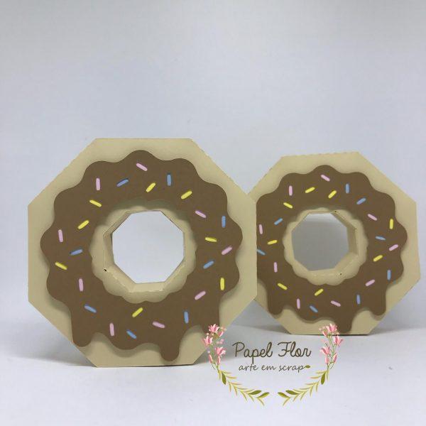 Caixa donuts 3D_ Papel Flor