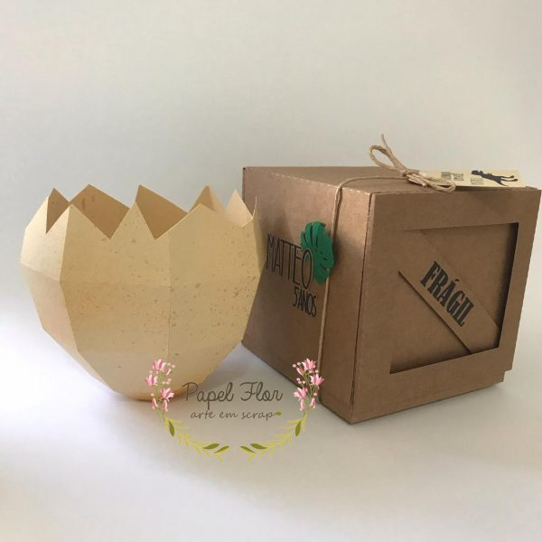 Caixa transporte DInossauro _ Papel FLor 1