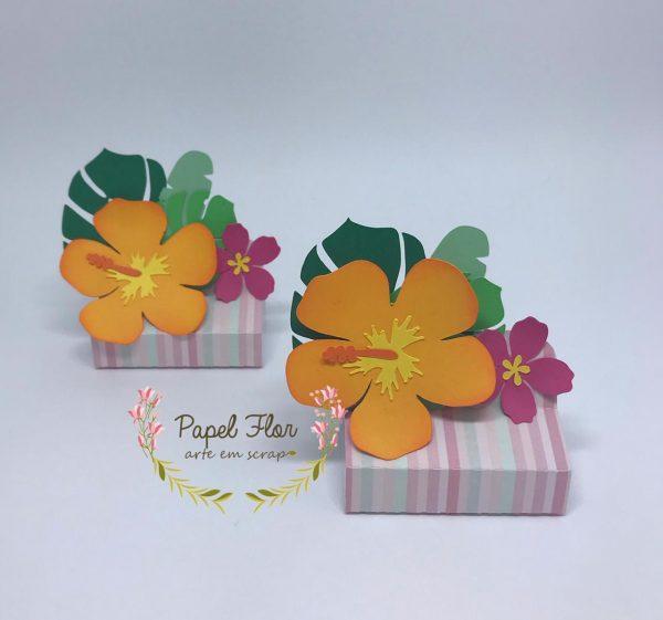 POrta chocolate duplo tropical_ Papel Flor