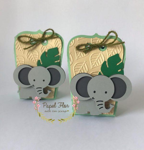 Caixa envelope Elefante Safari_Papel Flor