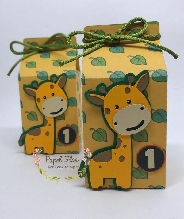 Caixa milk Girafa Safari_ Papel Flor