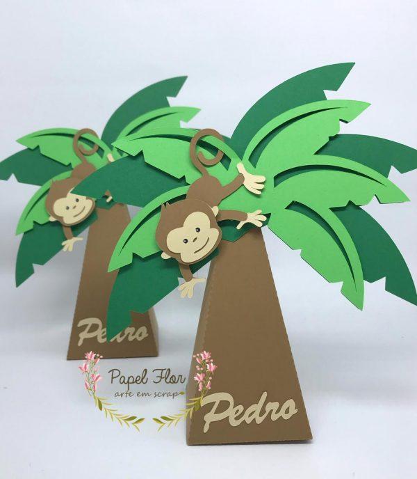 Cone coqueiro Macaco Safari_Papel Flor