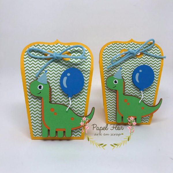 Caixa envelope Baby Dino cute_ Papel Flor