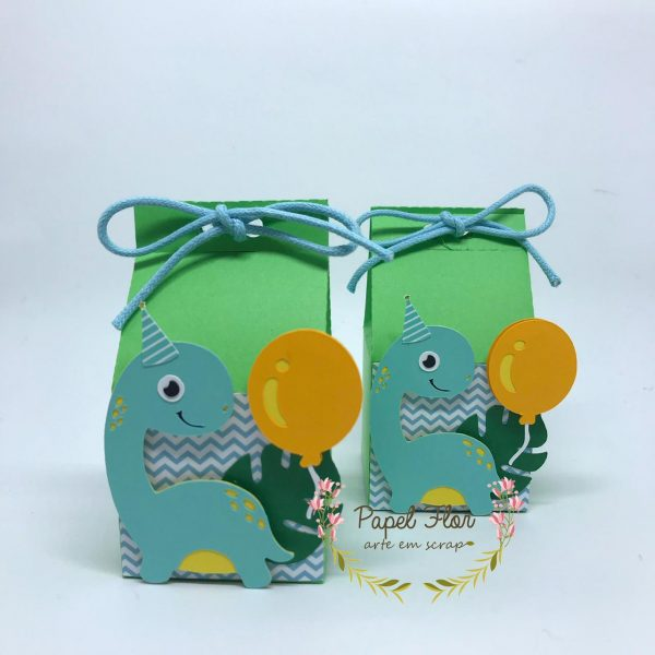 Caixa mini milk baby dino cute_ Papel Flor