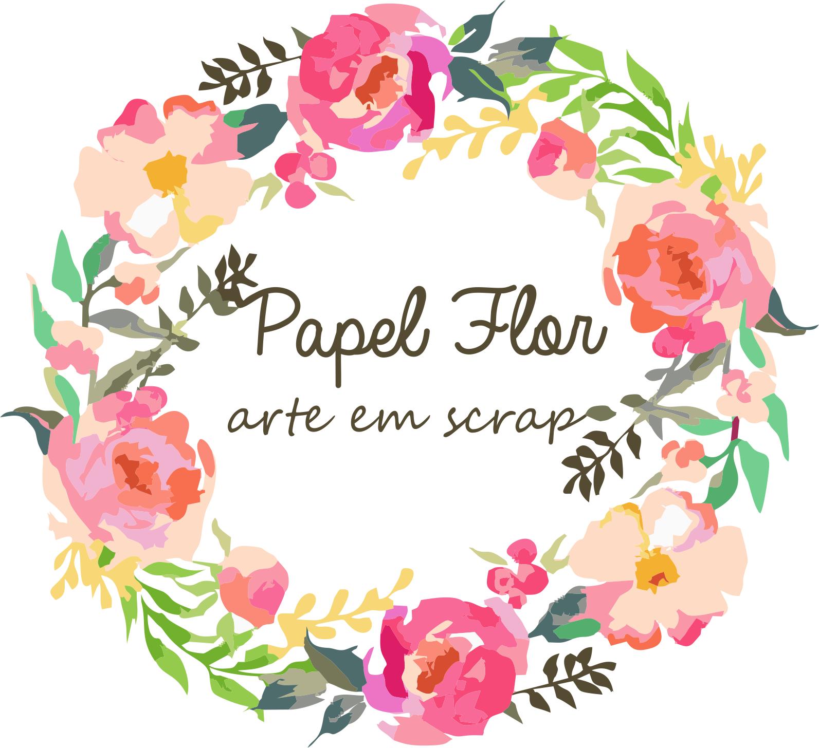 Papel Flor arte em scrap