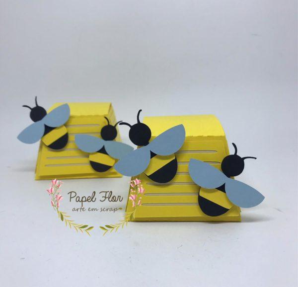 Caixa abelhas Papel FLor