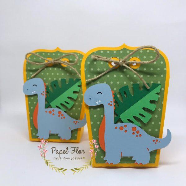 Caixa envelope Dino Papel Flor