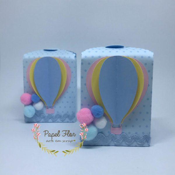 Caixa fechamento superior balão _ Papel Flor