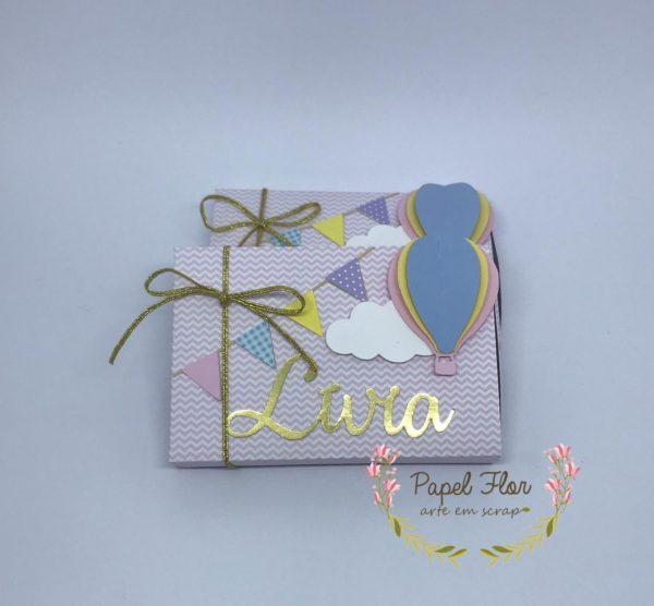 Caixa para chocolate Balão _ Papel Flor