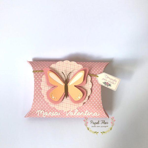 Caixa pillow borboleta_ Papel Flor