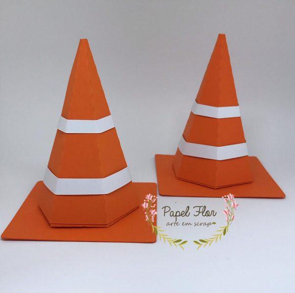 Caixa cone de sinalização_ Papel Flor