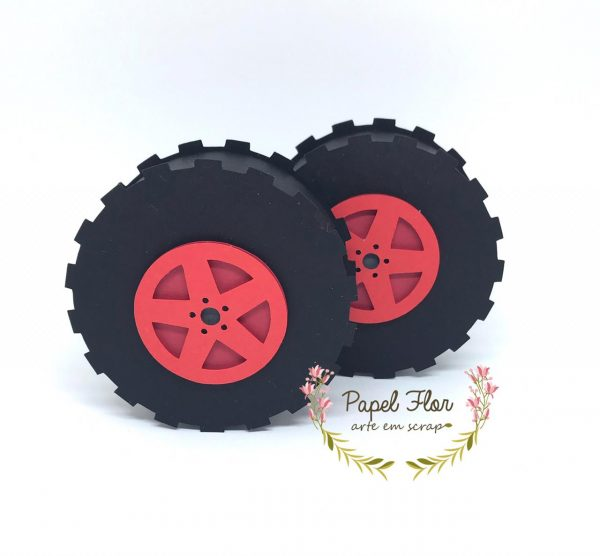Caixa roda carro_Papel Flor